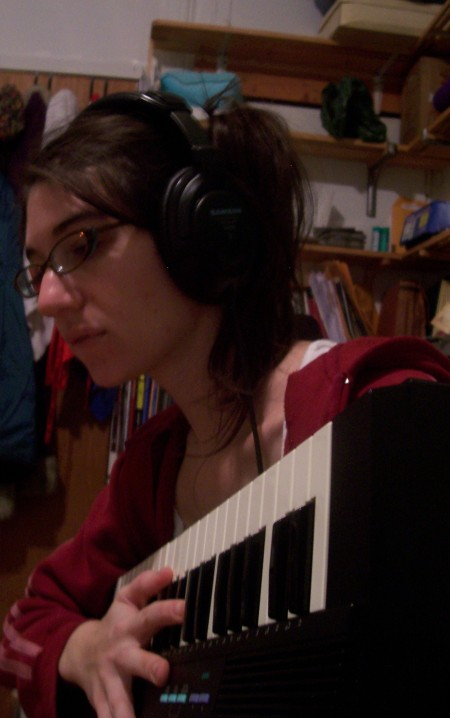 Alyson with Casio MT 240